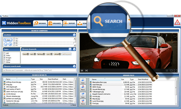 Search/Files Scanner